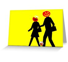 Trick or Treat Crossing Greeting Card