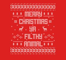 Merry Christmas You Filthy Animal (White Type) Unisex T-Shirt