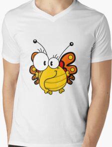 Cartoon butterfly Mens V-Neck T-Shirt