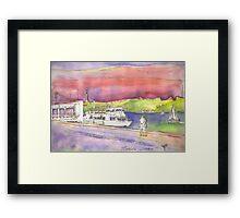 river cruises at sunset. Framed Print