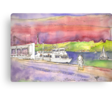 river cruises at sunset. Canvas Print