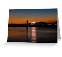 Sunset on Paul Brown Stadium Greeting Card