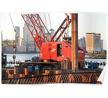Work Barge On The Hudson River ! Poster