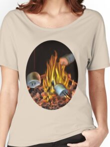 ☝ ☞ TOASTING MARSHMALLOW TEE SHIRT☝ ☞ Women's Relaxed Fit T-Shirt