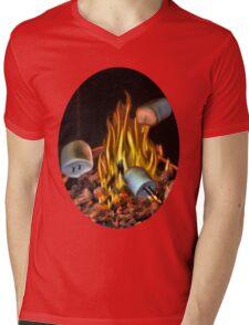 ☝ ☞ TOASTING MARSHMALLOW TEE SHIRT☝ ☞ Mens V-Neck T-Shirt