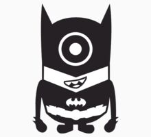 Despicable Me 2 - Batman Minion (Black and White) by jeremytee
