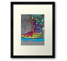 Nature Converse Shoe Framed Print