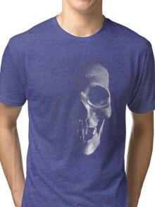 Grunge Skull - Dark Tri-blend T-Shirt