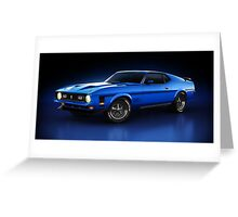 Ford Mustang Mach 1 - Slipstream Greeting Card