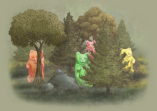 Wild Gummie Bears  by Terry  Fan