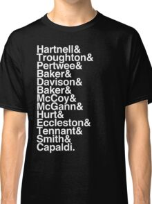 All Doctor - Hartnell to Capaldi, With Hurt Classic T-Shirt