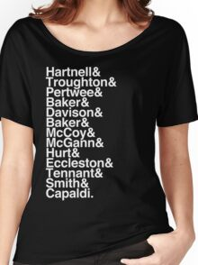 All Doctor - Hartnell to Capaldi, With Hurt Women's Relaxed Fit T-Shirt