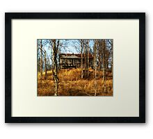 Barn Lost in the Woods rustic HDR landscape photography Framed Print