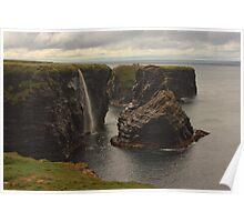 Sea Stacks At Kilkee Poster