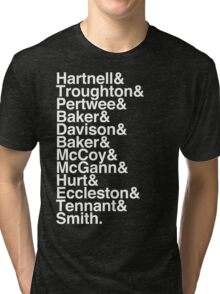 All Doctor - Hartnell to Smith, Whit Hurt Tri-blend T-Shirt