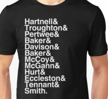 All Doctor - Hartnell to Smith, Whit Hurt Unisex T-Shirt