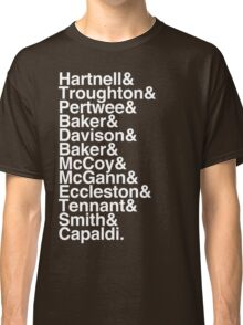 All Doctor - Hartnell to Capaldi, Without Hurt Classic T-Shirt