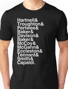 All Doctor - Hartnell to Capaldi, Without Hurt Unisex T-Shirt