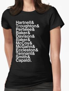 All Doctor - Hartnell to Capaldi, Without Hurt Womens Fitted T-Shirt