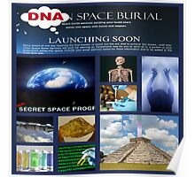 DNA space burial Poster