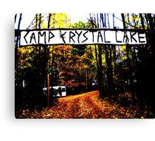 Camp Crystal Lake Canvas Print