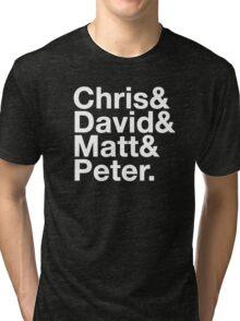 Eccleston, Tennant, Smith, Capaldi Tri-blend T-Shirt