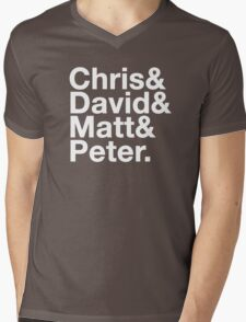 Eccleston, Tennant, Smith, Capaldi Mens V-Neck T-Shirt