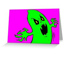 Green Ghost Greeting Card
