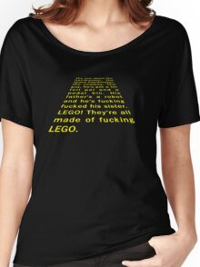 Peter Capaldi Malcolm Tucker Star Wars speech from The Thick Of It Women's Relaxed Fit T-Shirt