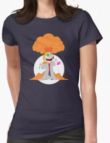 Science goes Boom! Womens Fitted T-Shirt