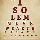 Harry Potter, Eye Chart by Alex Boatman