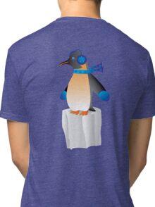 Pengin on ice Tri-blend T-Shirt