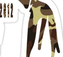 Trayvon Martin Camouflage 1995-2012 Sticker