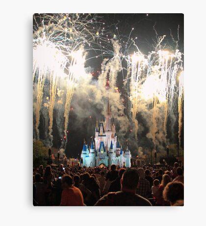 The Magic Kingdom at Night Canvas Print