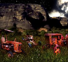 Retired tractors by Sandro Rossi