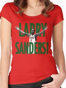 WHEN WILL THE LARRY SANDERS STOP!? Women's Fitted Scoop T-Shirt
