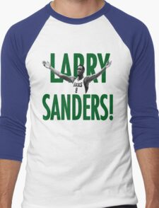 WHEN WILL THE LARRY SANDERS STOP!? Men's Baseball ¾ T-Shirt