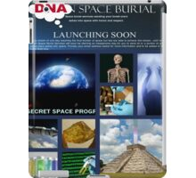 DNA space burial iPad Case/Skin