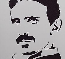 Nikola Tesla by Ant-Acid