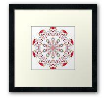 Ribbon Pattern Kaleidoscope 001 Framed Print