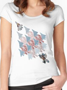 Transformation Tessellation Women's Fitted Scoop T-Shirt