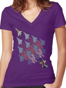 Transformation Tessellation Women's Fitted V-Neck T-Shirt