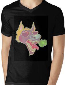 Black Mascot Shirt  Mens V-Neck T-Shirt