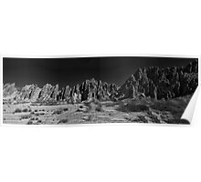 Argentine Mountains Panorama - monochrome Poster