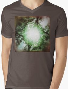Light in the Woods Mens V-Neck T-Shirt