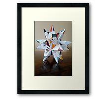 Recycled star Framed Print