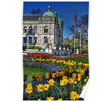 Spring at the Parliament Poster