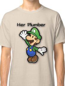 Mushroom Kingdom Couple: Luigi Shirt Classic T-Shirt