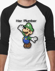 Mushroom Kingdom Couple: Luigi Shirt Men's Baseball ¾ T-Shirt