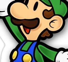 Mushroom Kingdom Couple: Luigi Shirt Sticker